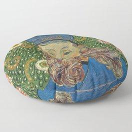 Portrait of the Postman Joseph Roulin by Vincent van Gogh Floor Pillow