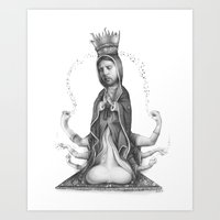 religious Art Prints featuring Religious Addiction by Daniel Vuyovich