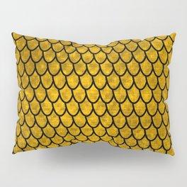 Mermaid Scales - Gold Pillow Sham