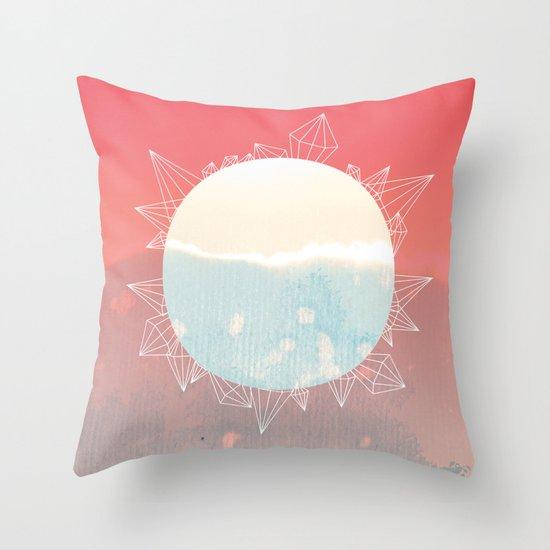 crystal sunrise Throw Pillow