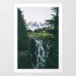 Myrtle Falls Art Print