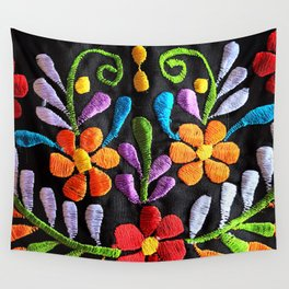 Mexican Flowers Wall Tapestry