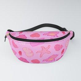 Simply Seashells Toss in Tonal Pink Fanny Pack