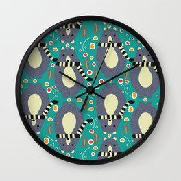 Little bears and flowers Wall Clock