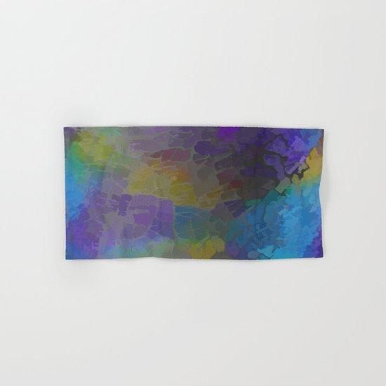 Rainbow Mosaic Abstract Hand & Bath Towel