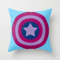 bisexual Throw Pillows featuring American Pride (bisexual edition) by Nikki Homicide