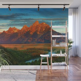 Grand Tetons - Jackson Hole, Wyoming in Autumn Wall Mural