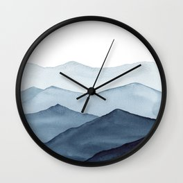 abstract watercolor mountains Wall Clock
