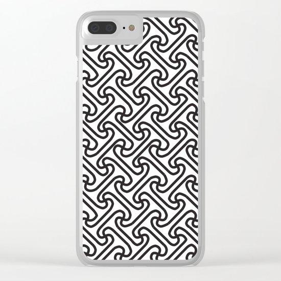 Pattern A 1 Clear iPhone Case