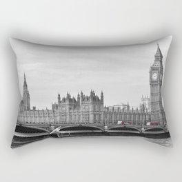 Buses on Westminster Bridge Rectangular Pillow