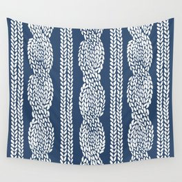 Cable Navy Wall Tapestry