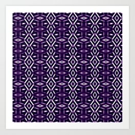 Meshed in Purple Art Print