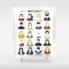 Who's who ? Shower Curtain