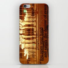 Psalm 145:16 iPhone & iPod Skin