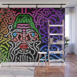 Colors, black, and me ... Wall Mural