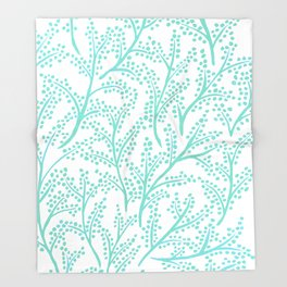 Branches – Mint Palette Throw Blanket