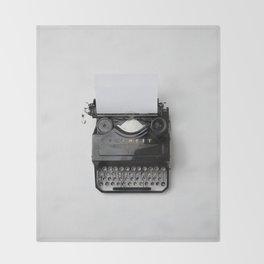 Old fashion typewriter Throw Blanket