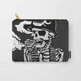 Military skeleton illustration - Soldier skull Carry-All Pouch