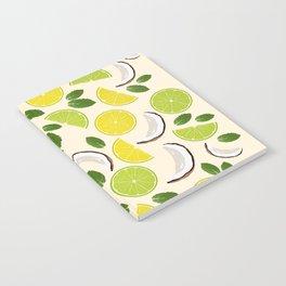 Lime Lemon Coconut Mint pattern Notebook