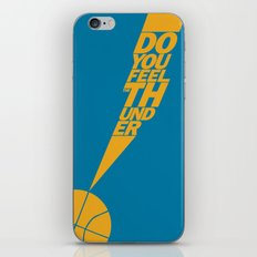 Do You Feel the Thunder? (Blue) iPhone & iPod Skin