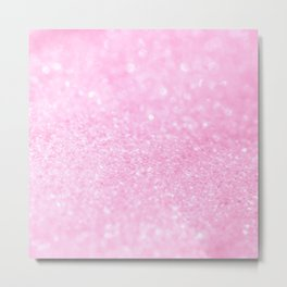 Pink Shiny Glitter Abstract Bokeh #decor #society6 Metal Print
