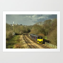 Approaching Yeoford  Art Print