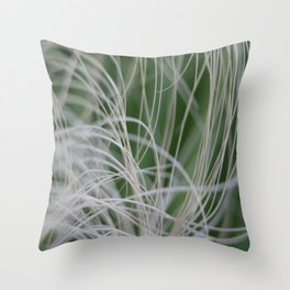 Abstract Image of Tropical Green Palm Leaves  Throw Pillow