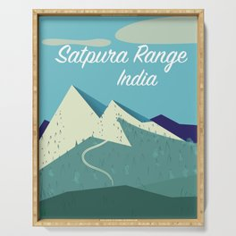 Satpura Range India travel poster Serving Tray