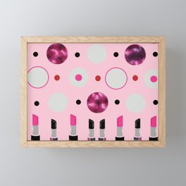 Polka Dots and Lipsticks Framed Mini Art Print