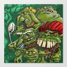 Goblin Pie Crew (v.1) Canvas Print