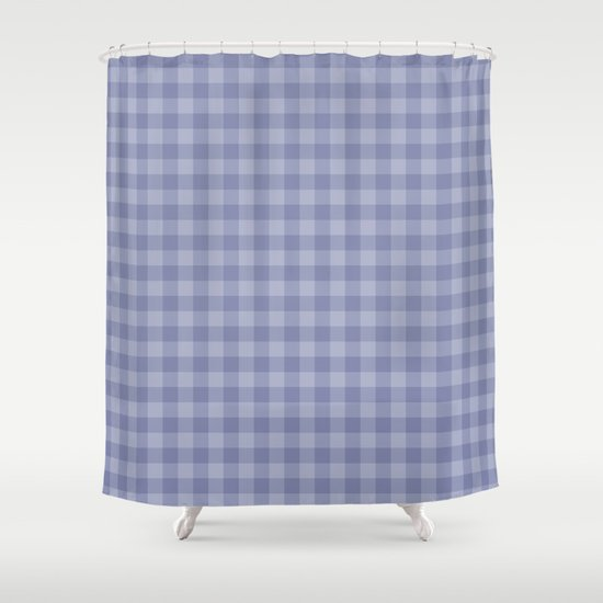 Blue gray simple plaid patterns Shower Curtain by