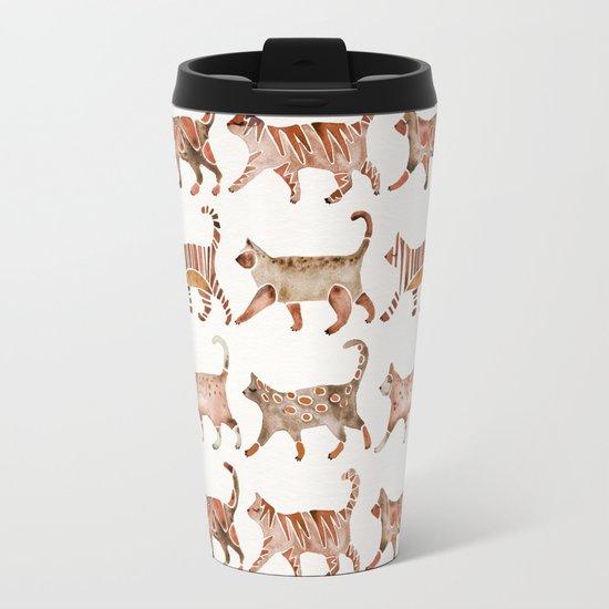 Cat Collection – Sepia Palette Metal Travel Mug