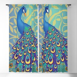 Peacock In A Tree Blackout Curtain