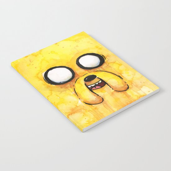 Jake Face Yellow Dog Cartoon Character Notebook