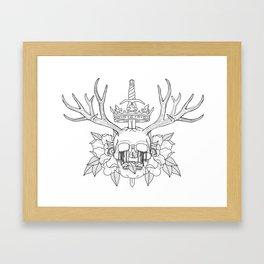 Crown n' Skull Framed Art Print