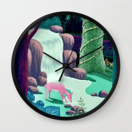 The Whispering Waters of Eventide Vale Wall Clock