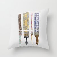 pop Throw Pillows featuring color your life by Bianca Green