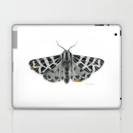 Kintsugi - A Graphite Drawing of a Moth by Brooke Figer Laptop & iPad Skin