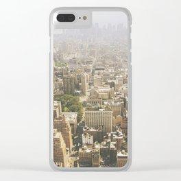 Hazy City - Manhattan Clear iPhone Case