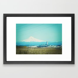 The Tower and the Mountian Framed Art Print