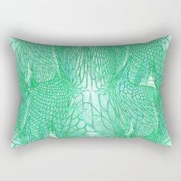 Seafoam Green Abstract 4 Rectangular Pillow