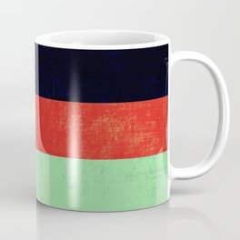 Navy, red and mint design Coffee Mug