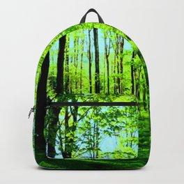 Sky Blue Morning Forest Backpack