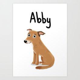 "Custom Cute Dog Art ""Abby"" Art Print"