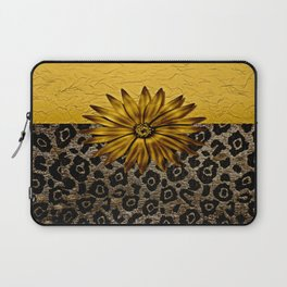 Animal Print Brown and Gold Animal Medallion Laptop Sleeve