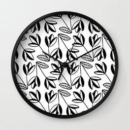 Scandi Flowers Wall Clock