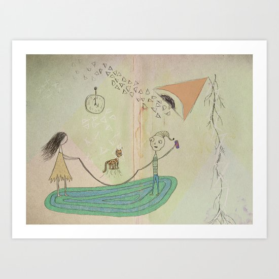 Jumping Rope in the Living Room Art Print