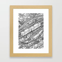 The Town of Train 3 Framed Art Print