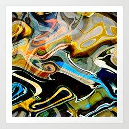 Blue curlz Art Print