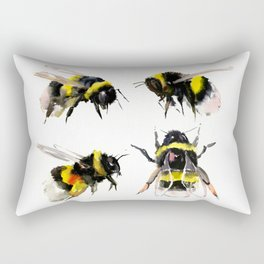 Bumblebee, Bee art, bee design, bees Rectangular Pillow